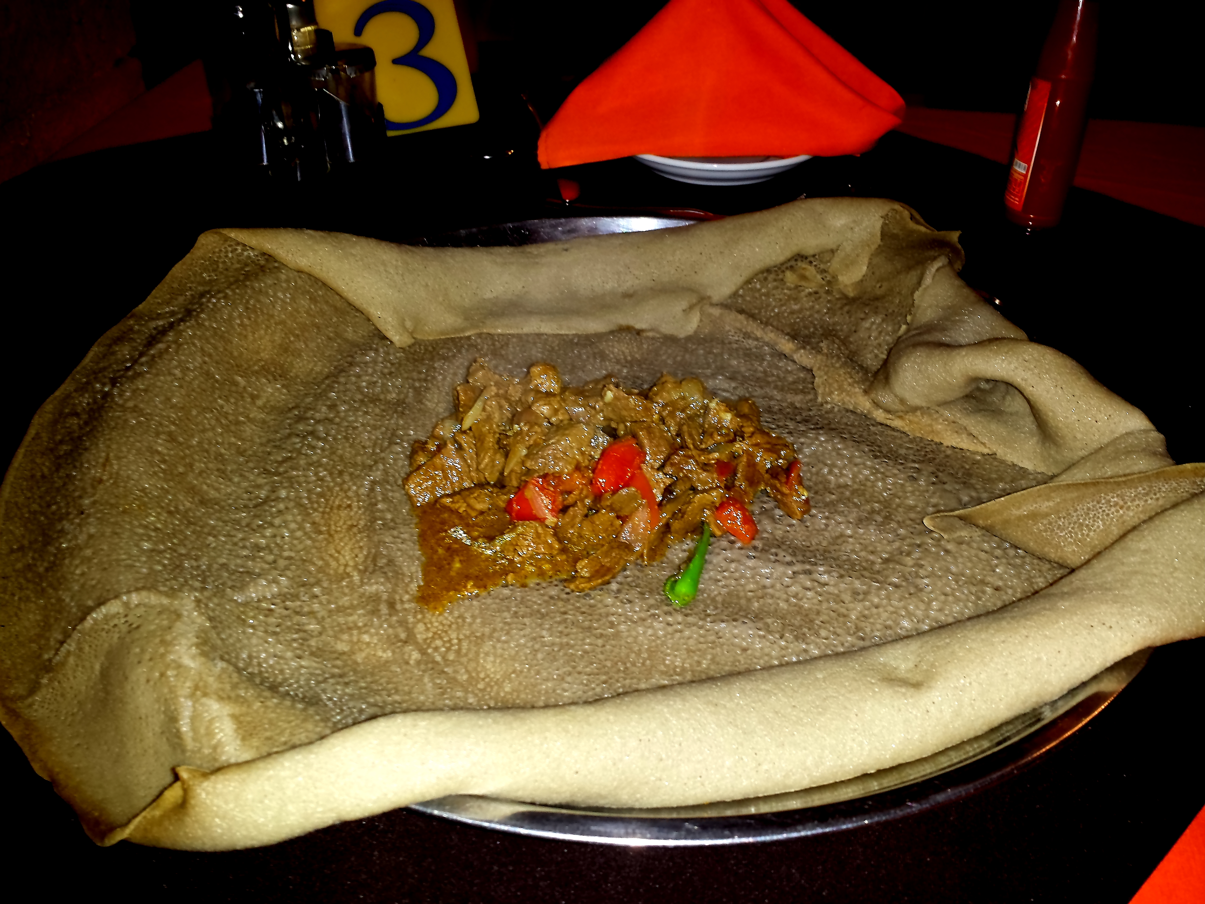 ... Beef Tibs and Injera – it was delivered promptly within 15 minutes